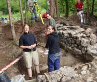 die Archäologen bei der Arbeit