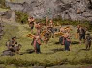 Hirten und Engel auf der Holzhammerkrippe
