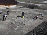 Spuren der eisenzeitlichen Siedlung in den Thaurer Feldern
