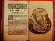Die Geschichte des Heiligen in einem Buch von 1699